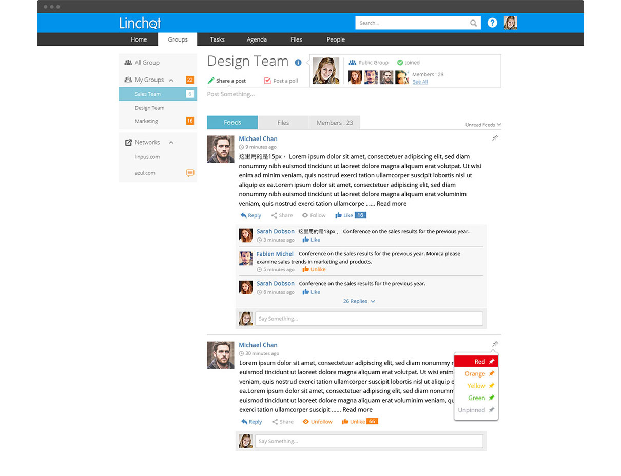 Linchat Enterprise Communication Social Network